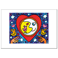 James Rizzi Postkarte -When love is in the air-
