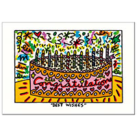 James Rizzi Postkarte -Best wishes-