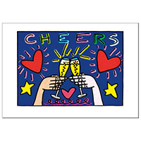 James Rizzi Postkarte -Cheers-