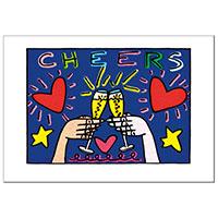James Rizzi Postkarte -Cheers-