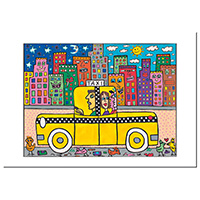 James Rizzi Postkarte -If you take a Taxi-