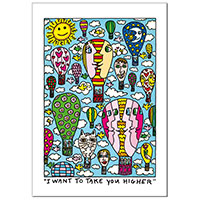 James Rizzi Grußkarte -I want to take you higher-