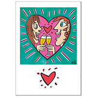 James Rizzi Grußkarte -For you and me-