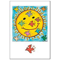 James Rizzi Doppelkarte mit Umschlag -Sun Birds-