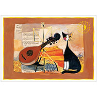 Wachtmeister Postkarte -Musical cat-