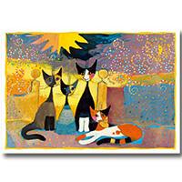 Wachtmeister Postkarte -Vor dem Tor-