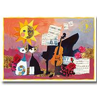 Wachtmeister Postkarte -Cello-