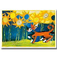 Wachtmeister Postkarte -Sonnenblumen-