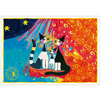 Wachtmeister Postkarte -We want to be together-