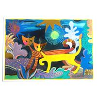Wachtmeister Postkarte -Wonderland-