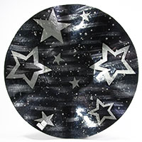 Weihnachtliche Wellenschale mit Stern-Motiv