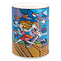 ROMERO BRITTO Motivkerze -Love Blossoms-