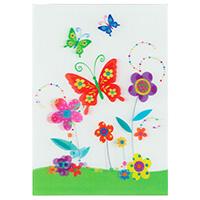 3D-Karte Blumenwiese mit Schmetterlingen