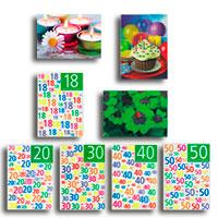3-D-Postkarten-Set - Geburtstag -