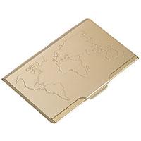 GLOBAL CONTACTS Visitenkartenetui gold