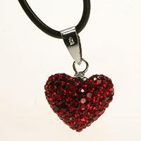 Zauberhafter Herz-Anhänger aus rhodiniertem 925er-Silber (klein)