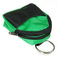 Schlüsselanhänger Minirucksack grün