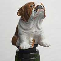 Wein-Stopfen -Bulldogge-