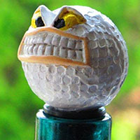 Wein-Stopfen -Golfball angry-