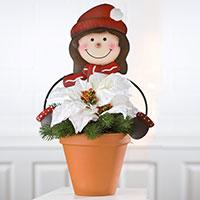 Gartenstecker Blumenfreunde - Mädchen -