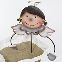 Gartenstecker Blumenfreunde -Engel-