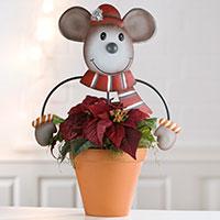 Gartenstecker Blumenfreunde - Maus -