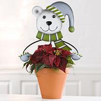 Gartenstecker Blumenfreunde - Eisbär -
