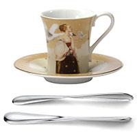 Espresso-Set: Espressotasse mit Untertasse und Espressolöffel