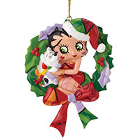 Anhänger -Betty Boop & Pudgy Wreath- Design by BRITTO