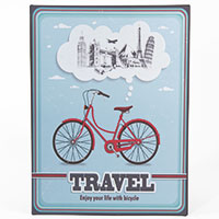 Metallschild -Travel Bicycle-