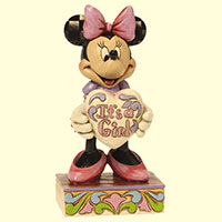 Minnie Mouse -It's a Girl- by Jim Shore.