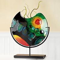 Vase auf Ständer -Sunrise- II