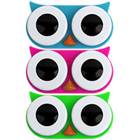 Kontaktlinsenbehälter -Eule-