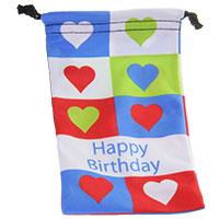 Happy Birthday - Mikrofaser-Beutel -Hearts-