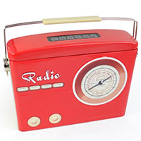 Blechbox -Radio- rot