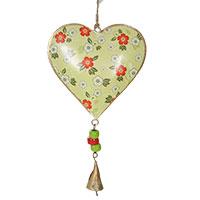 Romantischer Herzanhänger mit kleiner Glocke