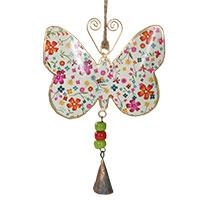 Schmetterlings-Anhänger mit Glöckchen: Ein wunderbarer Fensterschmuck!