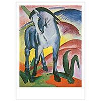 Künstlerpostkarte Marc -Blaues Pferd-