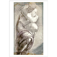 Künstlerpostkarte Greco -Studie nach Michelangelos Tag-