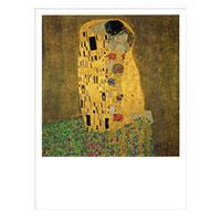 Künstlerpostkarte Klimt -Der Kuss-