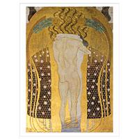Künstlerpostkarte Klimt -Diesen Kuss der ganzen Welt-
