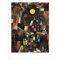 Künstlerpostkarte Klee -Der Vollmond-