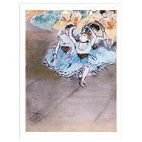 Künstlerpostkarte Degas -Die Tänzerinnen-