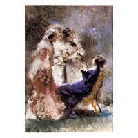 Künstlerpostkarte Cremona -Vier junge Mädchen-