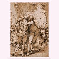 Künstlerpostkarte Cambiaso -Venus hält Adonis zurück-
