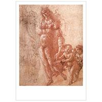 Künstlerpostkarte Botticelli -Überfluss oder Herbst-