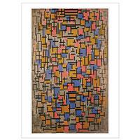 Künstlerpostkarte Mondrian - Komposition -