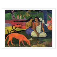 Künstlerpostkarte Gauguin -Zeitvertreib-