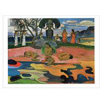 Künstlerpostkarte Gauguin -Der Tag der Götter-