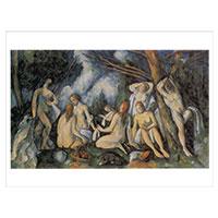 Künstlerpostkarte Cézanne -Die Großen Badenden-